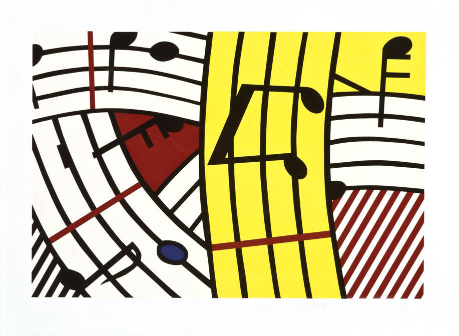 "Roy Lichtenstein ""Composition IV"""