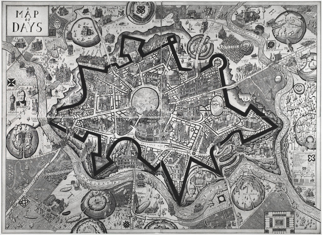 Grayson Perry Map Of Days Signed Print