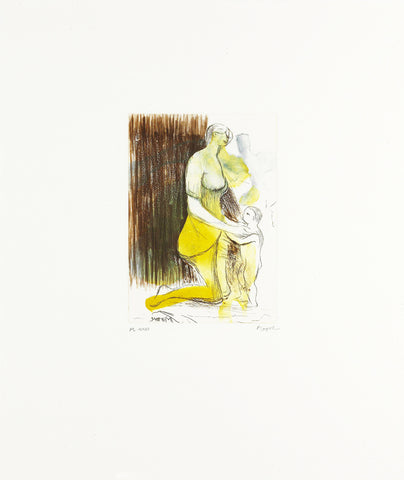 "Henry Moore ""Mother and Child"" XXVI Signed Etching"
