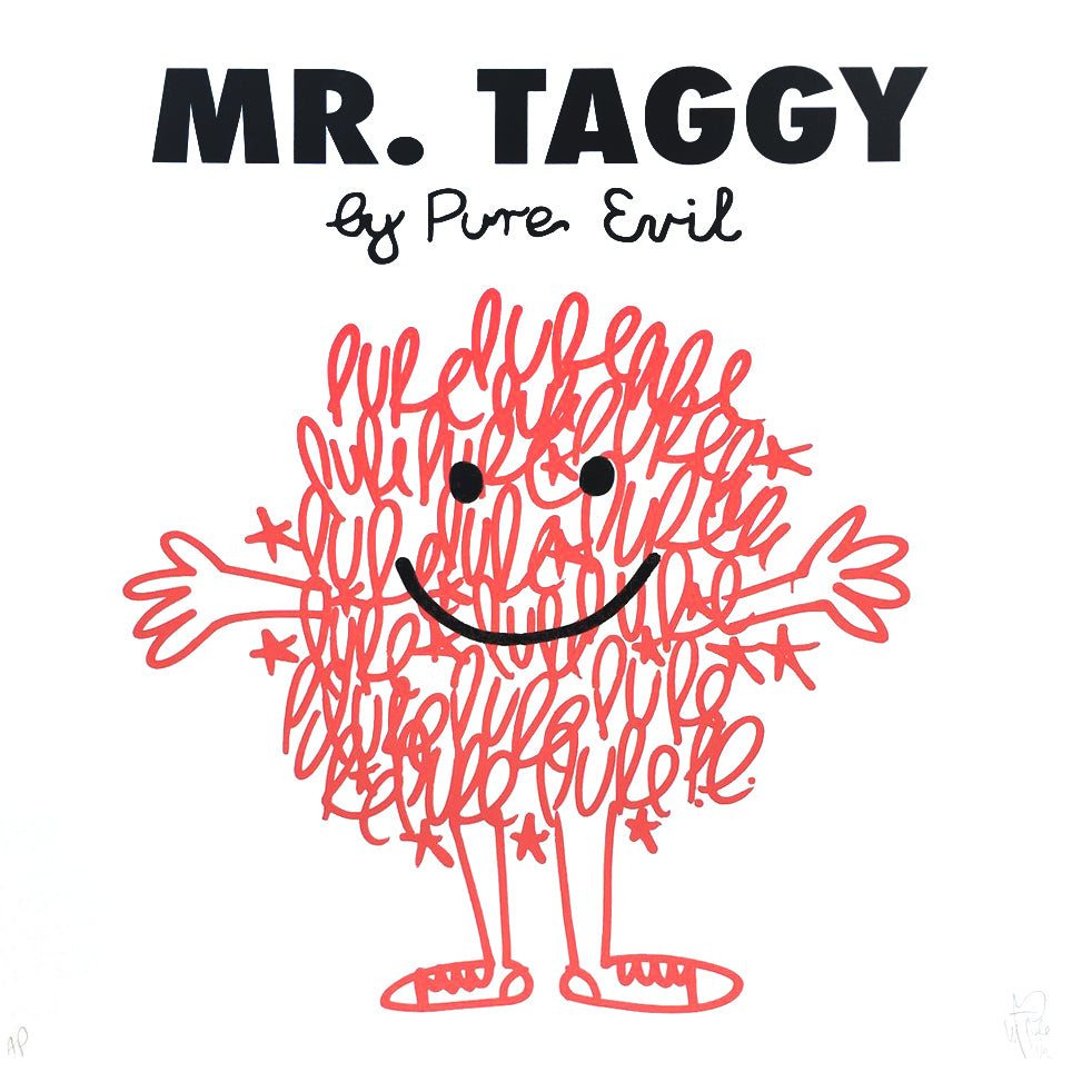 "Pure Evil ""Mrs Taggy"" Grafitti Mr Men Satire"