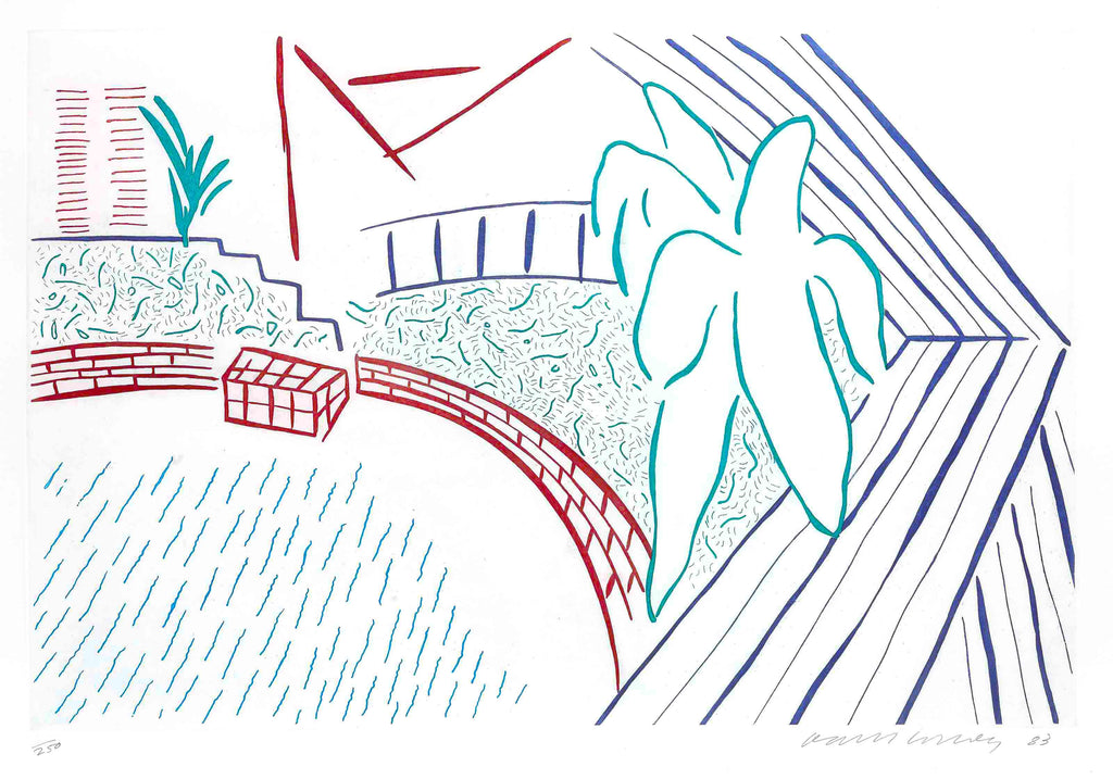 "David Hockney ""My Pool and Terrace"""