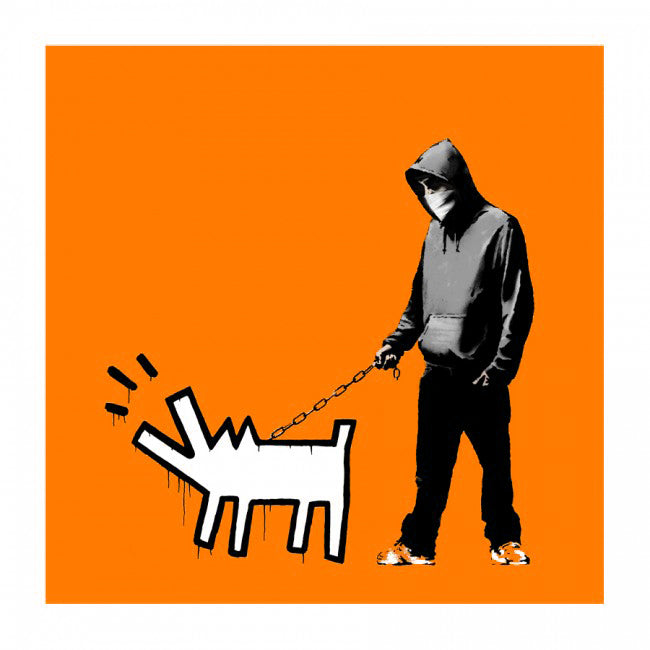 Banksy Choose Your Weapon Dark Orange