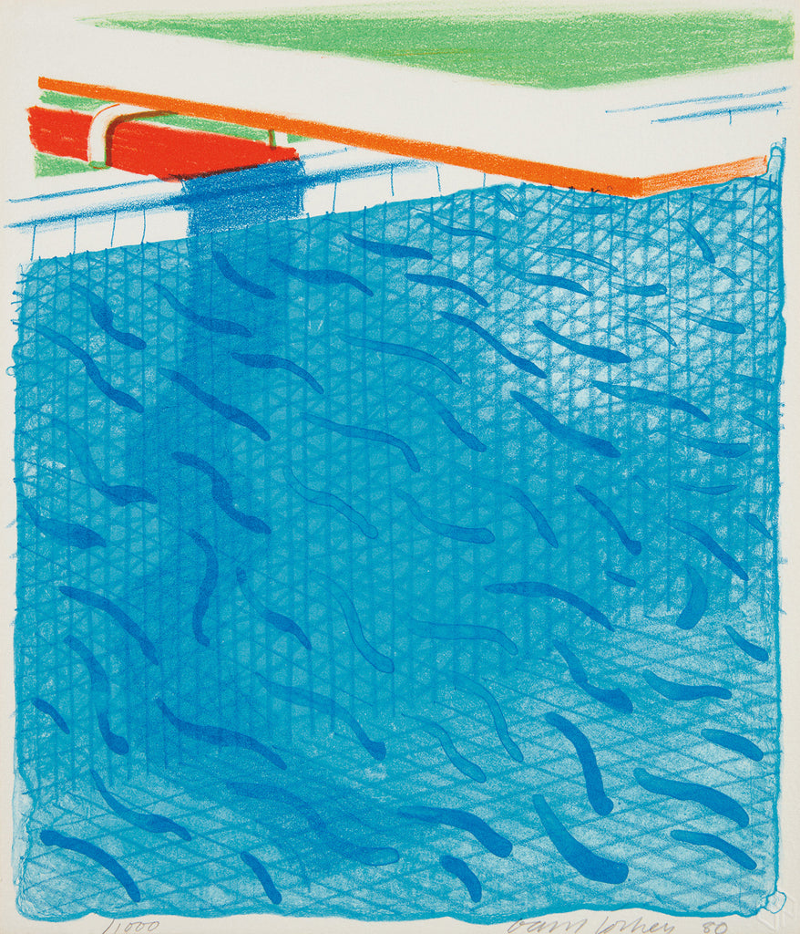 "David Hockney ""Pool Made with Paper and Blue Ink"""