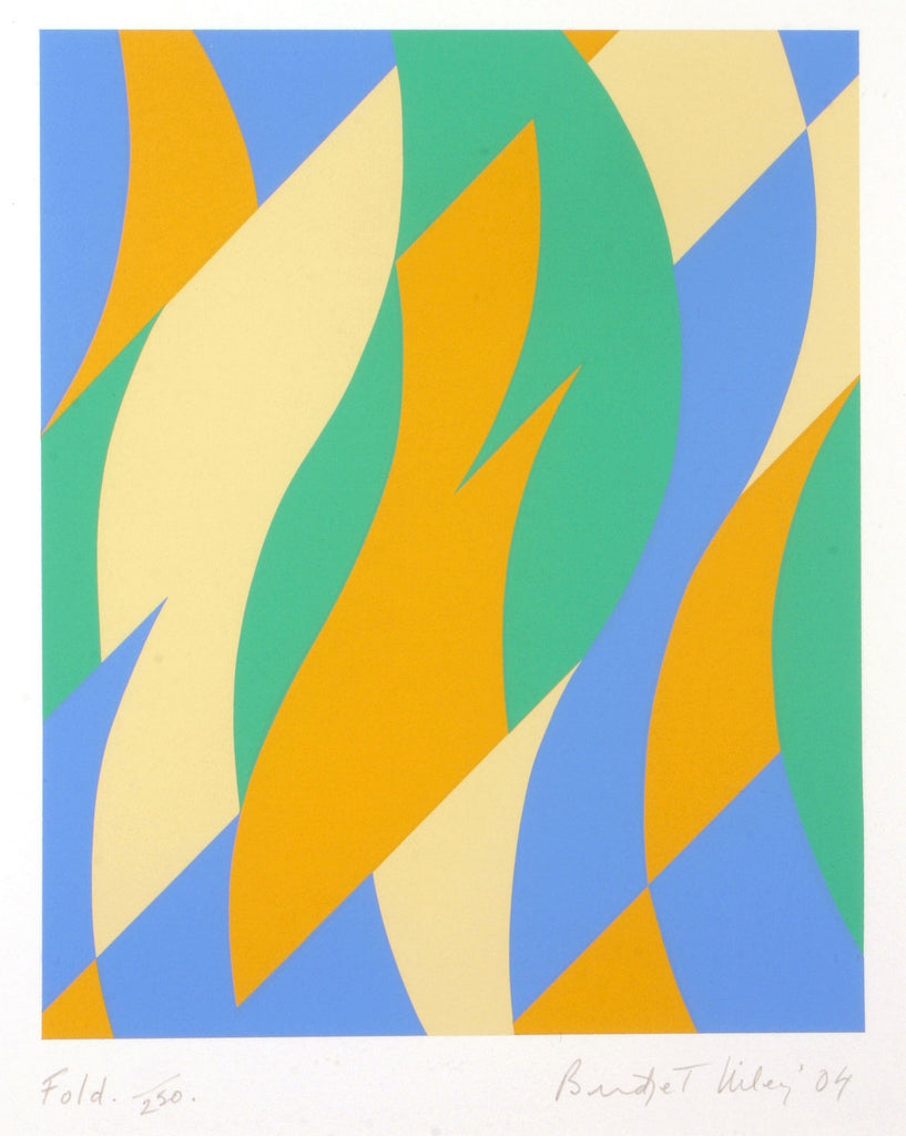 Bridget Riley Fold Signed Print via Oliver Clatworthy