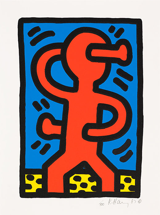 "Keith Haring ""Untitled"" 1987 S Man"
