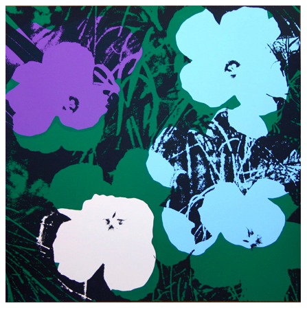 "Andy Warhol ""Flowers"" Sunday B Morning (White)"