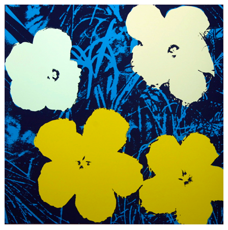 "Andy Warhol ""Flowers"" Sunday B Morning (Yellow)"