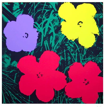 "Andy Warhol ""Flowers"" Sunday B Morning (Pink)"