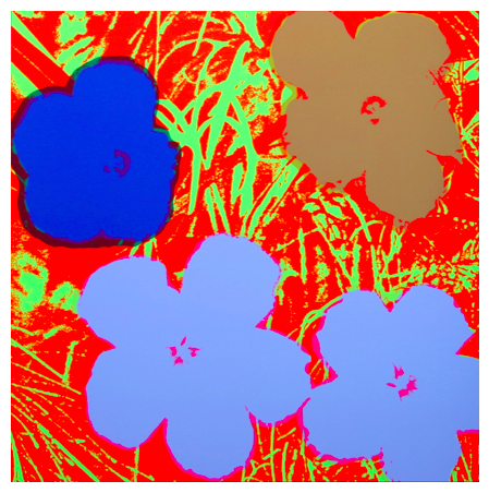 "Andy Warhol ""Flowers"" Sunday B Morning (Red)"
