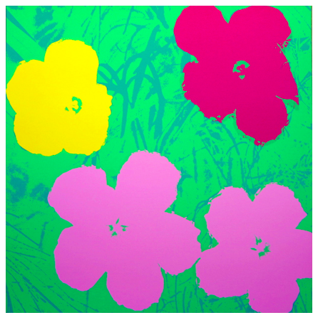 "Andy Warhol ""Flowers"" Sunday B Morning (Green)"