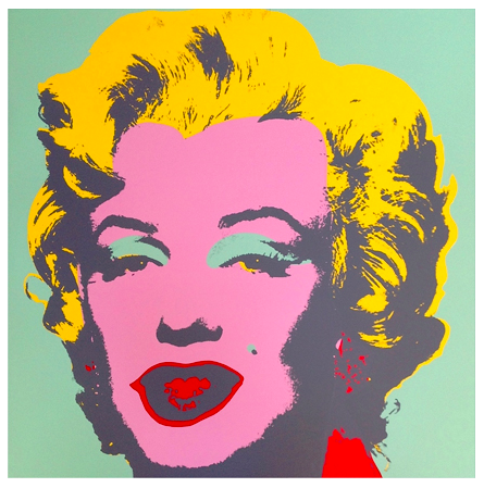 "Andy Warhol ""Marilyn"" Sunday B Morning (Pink)"