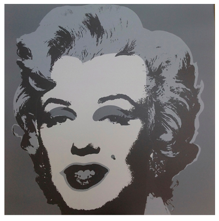 "Andy Warhol ""Marilyn"" Sunday B Morning (Grey)"