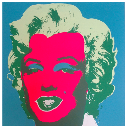 "Andy Warhol ""Marilyn"" Sunday B Morning (Blue)"
