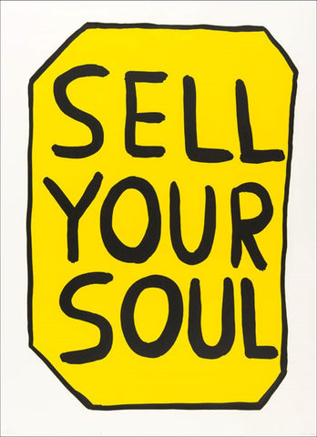 "David Shrigley ""Save Your Soul"" signed print"