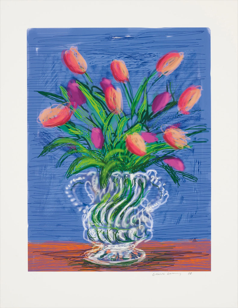 "David Hockney ""Untitled"" Tulips Ipad Drawing"