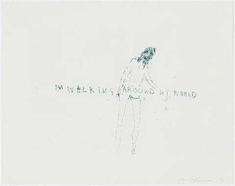 "Tracey Emin ""I'm walking around my world"""