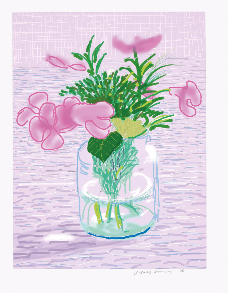 David Hockney Lilac Ipad Drawing Print Art Investment