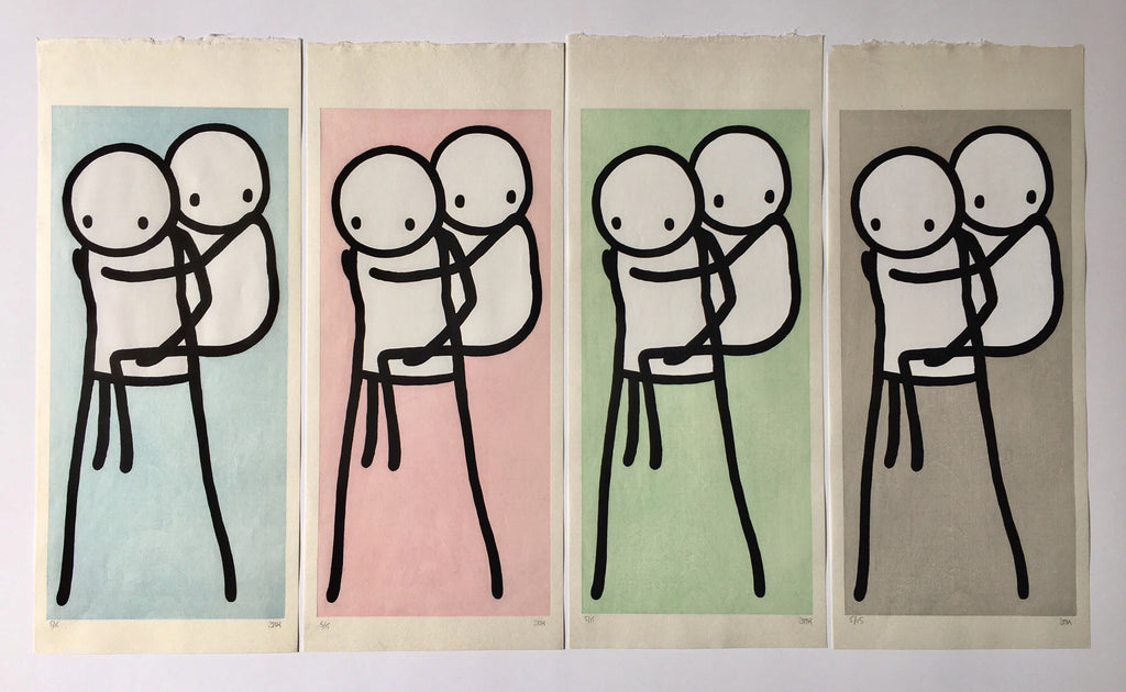 Stik Piggy Back Woodcut Prints