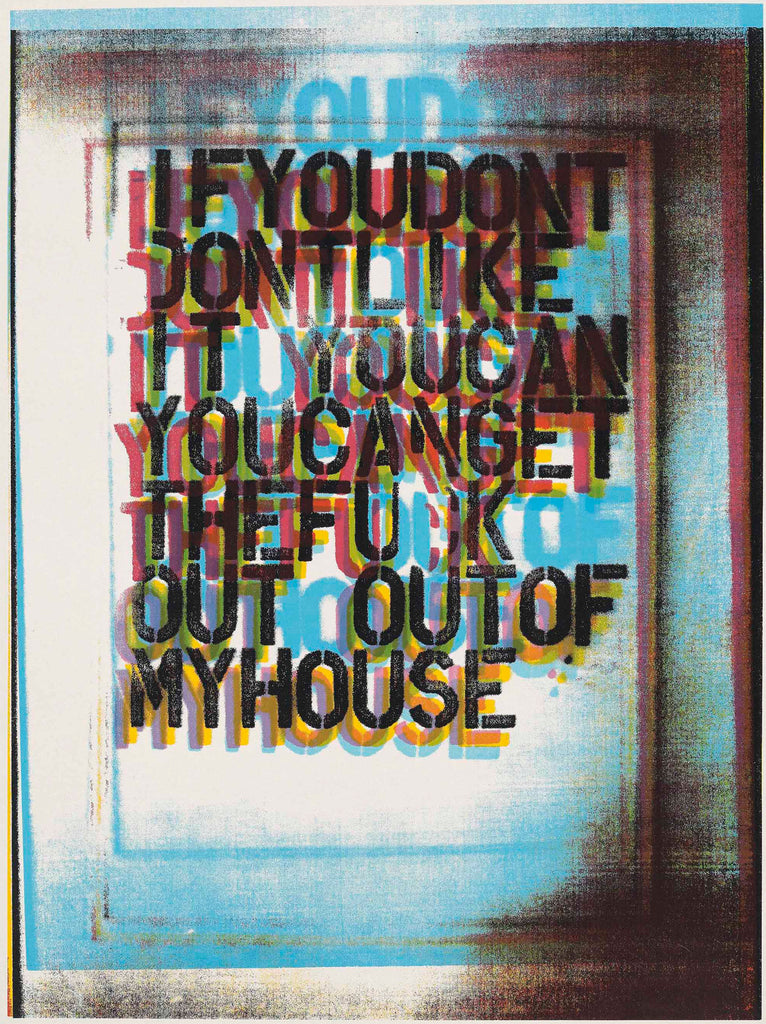 "Christopher Wool ""My House II"" Signed Print"