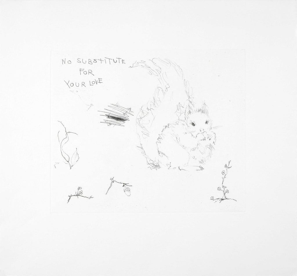 "Tracey Emin ""No Substitute for Your Love"" Squirrel Signed Print"