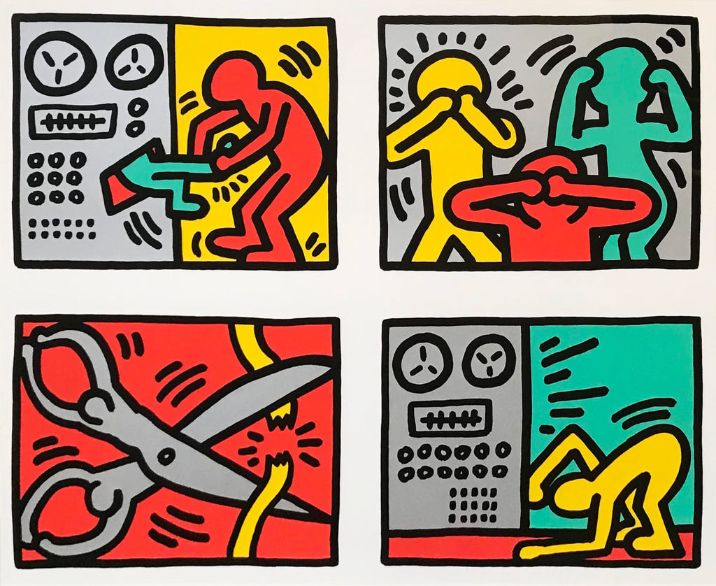 "Keith Haring ""Untitled"" Pop Shop Quad III Print"
