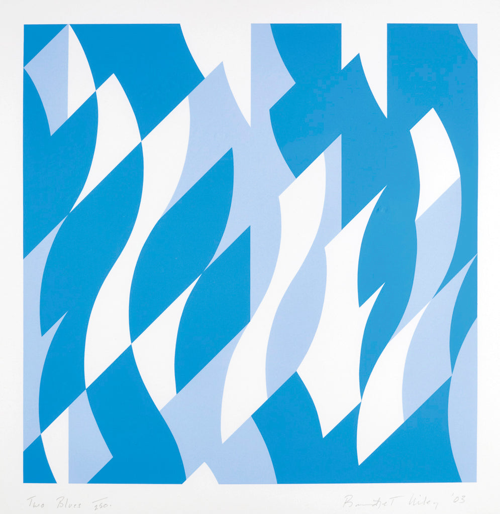 "Bridget Riley ""Two Blues"""