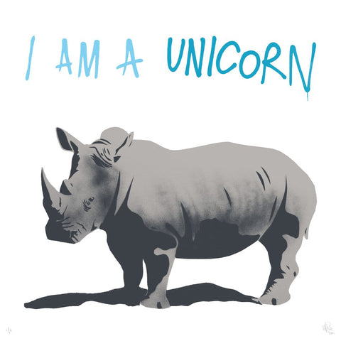 "Pure Evil ""I Am A Unicorn"" Signed Rhino Print"