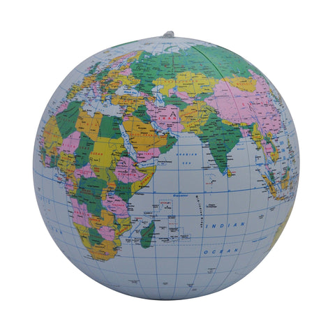 "Geotoys - 12"" Blue Political Inflatable Globe"