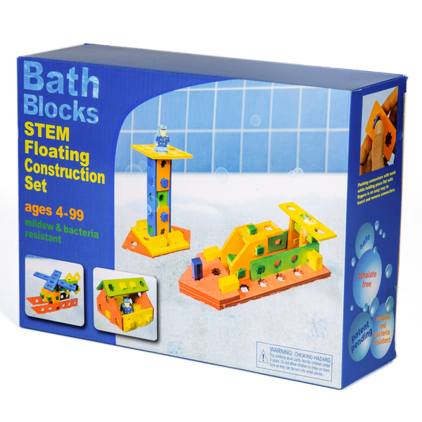 BathBlocks Planks & Pegs STEM Floating Construction Set