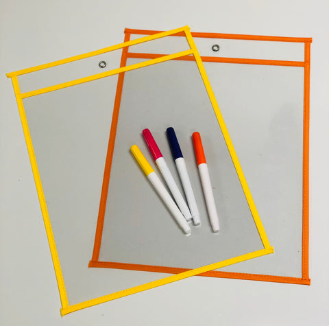 Dry Erase Pocket & Marker Set