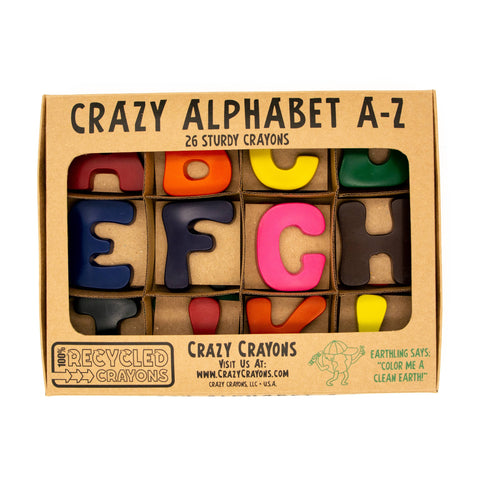 Crazy Crayons - Alphabet Letters Crayon Pack