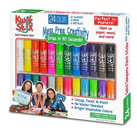 Kwik Stix Tempera Paint- 24 Pack