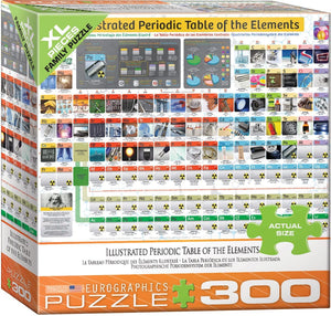 EuroGraphics Illustrated Periodic Table of The Element 300 Piece Jigsaw Puzzle
