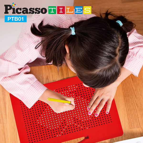 "PicassoTiles - 12"" x 10"" Large Magnetic Drawing Board"