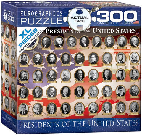 EuroGraphics US Presidents 300 Piece Jigsaw Puzzle
