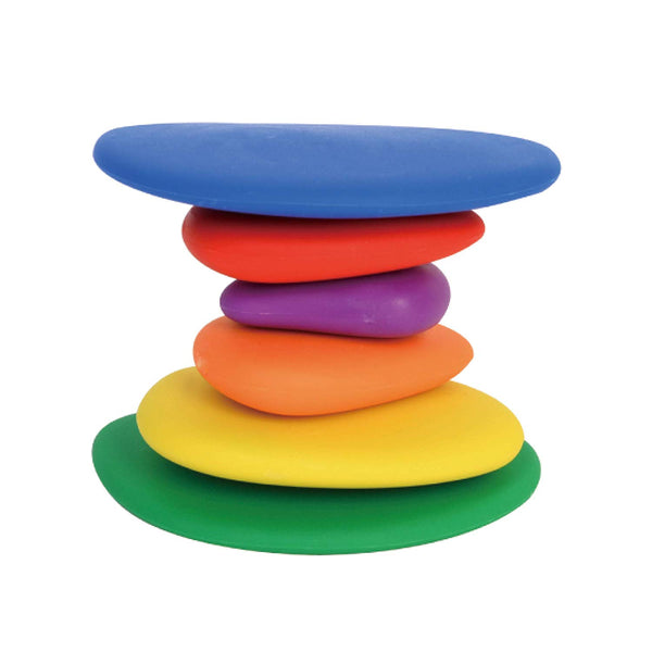 edx Education Rainbow Pebbles - Sorting and Stacking Stones