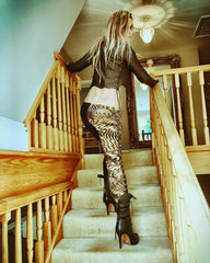 Copy of Gipsy Dharma 'Halloween...Home alone part 2' Laced Leggings