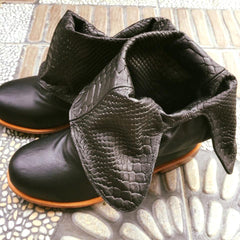 'Fairy Slippers' Ankle Boots in Black for Pre Order
