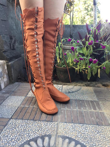 Marmalade Leather Knee High Boots