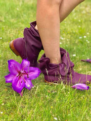 'Fairy Slippers' Ankle Boots in Plum for Pre Order
