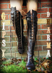 'Clockwork Fairy' Knee High Boots in Madagascar