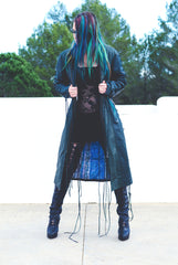 Gipsy Dharma Winter Dark Green Leather Coat