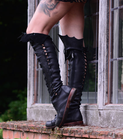 'Clockwork Fairy' Knee High Boots buy one get one free for Pre Order