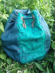 'Emerald' String Hand Bag and Rucksack