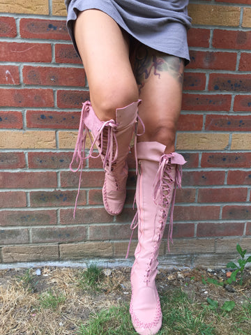'Romance Never Dies' Knee High Leather Boots