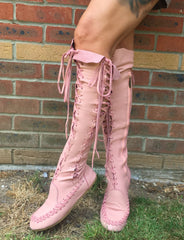 'Romance Never Dies' Knee High Leather Boots for Pre Order