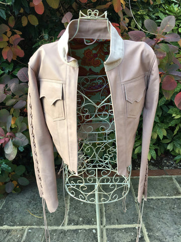 'Cream' Leather Bolero Jacket