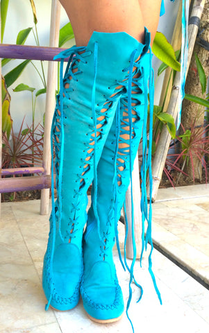 'Mermaid's dream' Knee High Boots