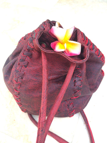 Flamenco Leather String Hand Bag and Rucksack for Pre Order