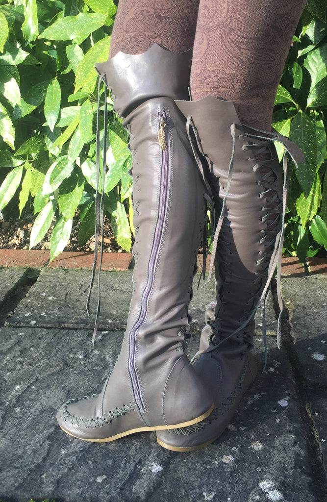 872ff5a7e15 Leather Boots – Olive Knee High Leather Boots For Women